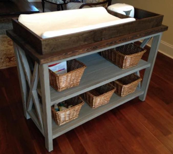Build a Changing Table using free plans.