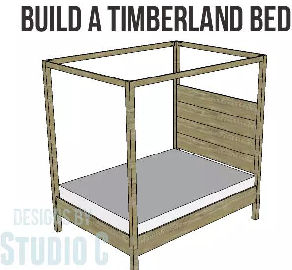 Free plans to build a Queen Size Canopy Bed.