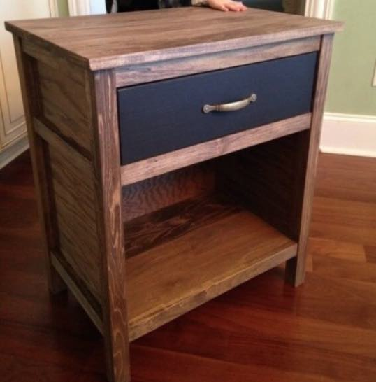 Free plans to build your own Nightstand.