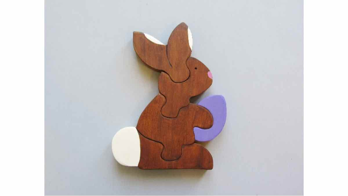 puzzles,scroll saw,childrens,rabbits,easter bunny,diy,free woodworking plans,free projects,do it yourself