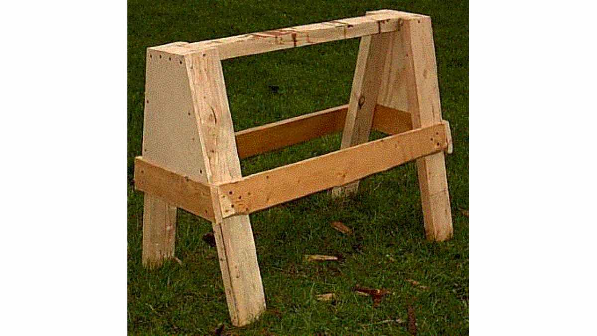 Free Woodworking Plans to Build an Ugly Sawhorse