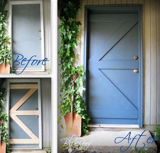 Turn a Plain Door to Barn Door using free plans.