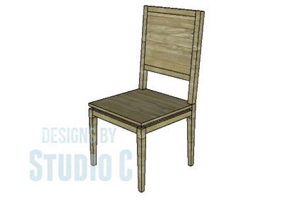 Build a Dining Chair with Solid Back using free plans.