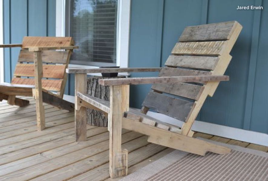 Build a Deck Chair from a Pallet using free plans.