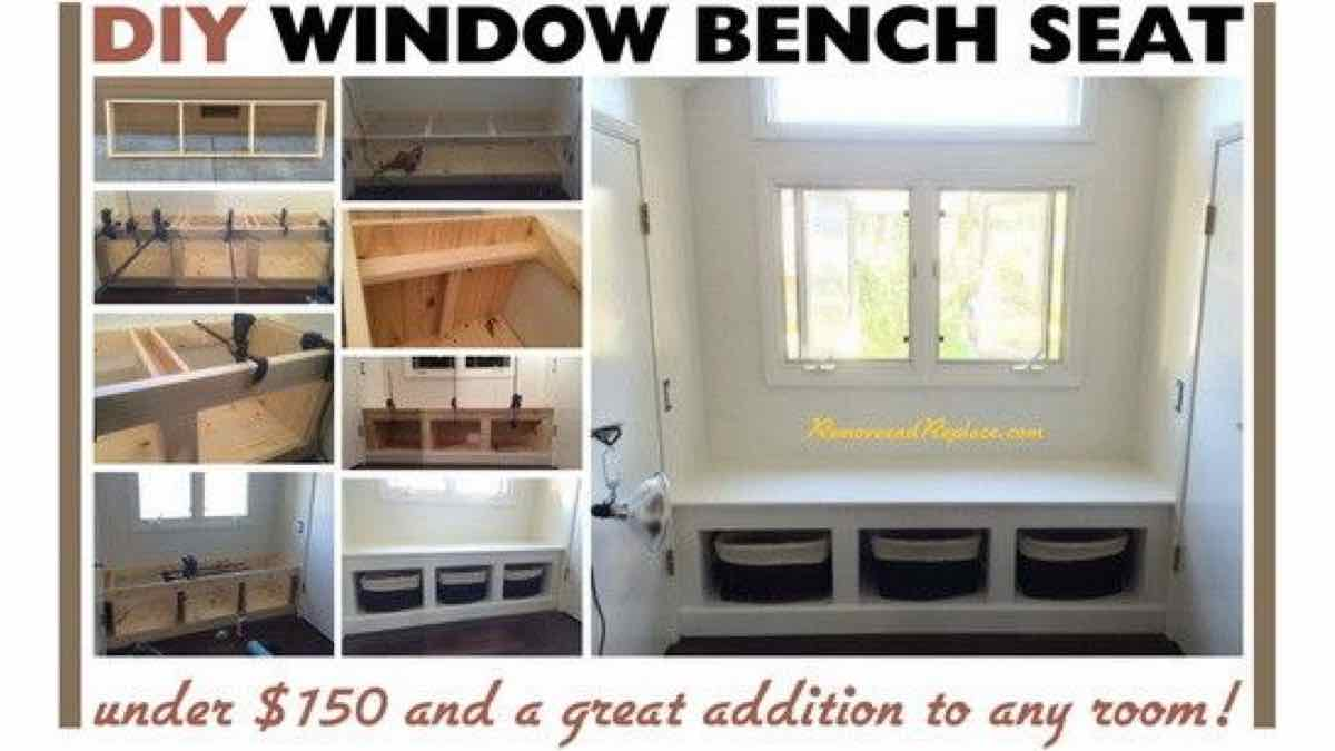 window seats,window benches,built in benches,diy,free woodworking plans,free projects,do it yourself