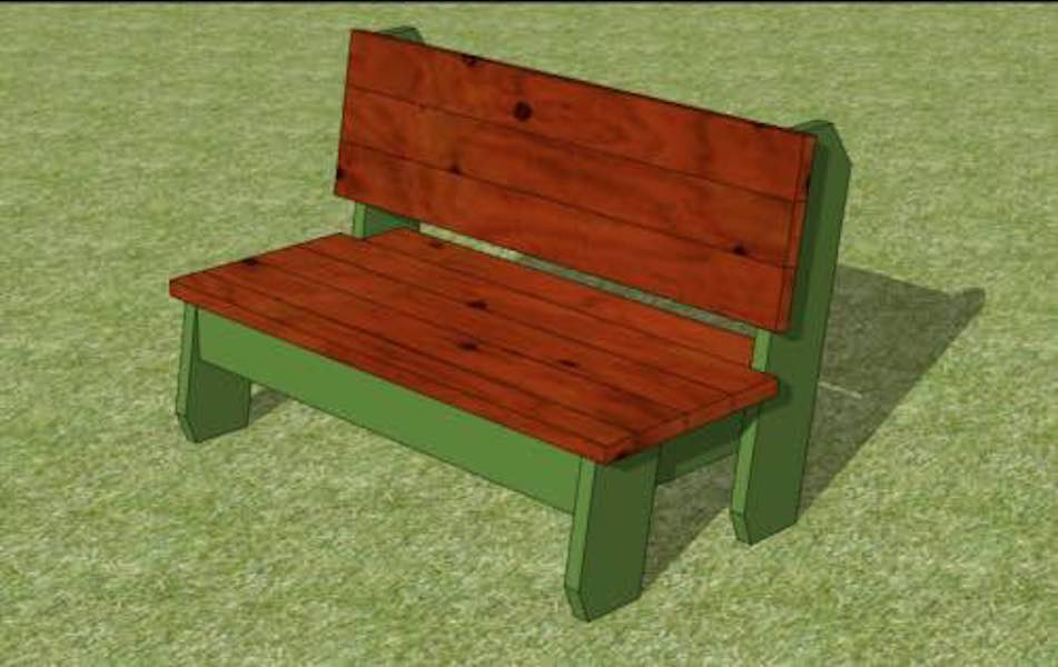 Build a park bench with these free plans.