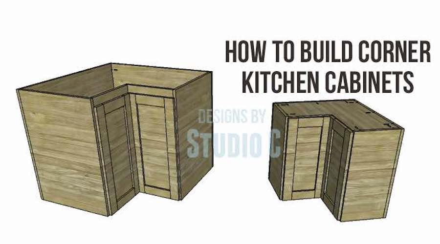 Build Corner Kitchen Cabinets using free plans.