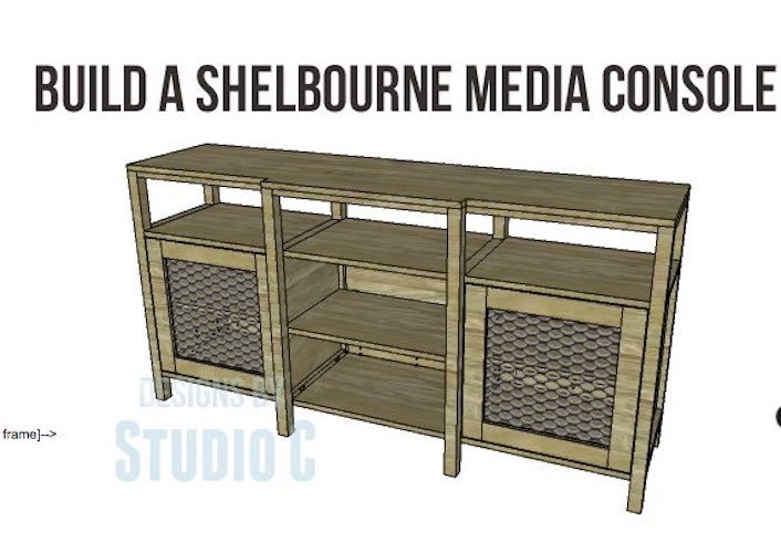 Free plans to build a Shelbourne Media Console.