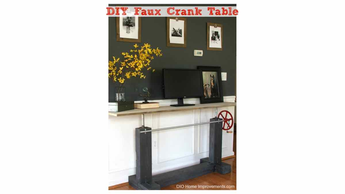 crank tables,console tables,hall tables,furniture,diy,free woodworking plans,free projects,do it yourself