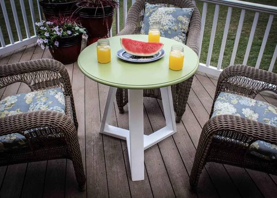 Build a Simple Round Table using free plans.