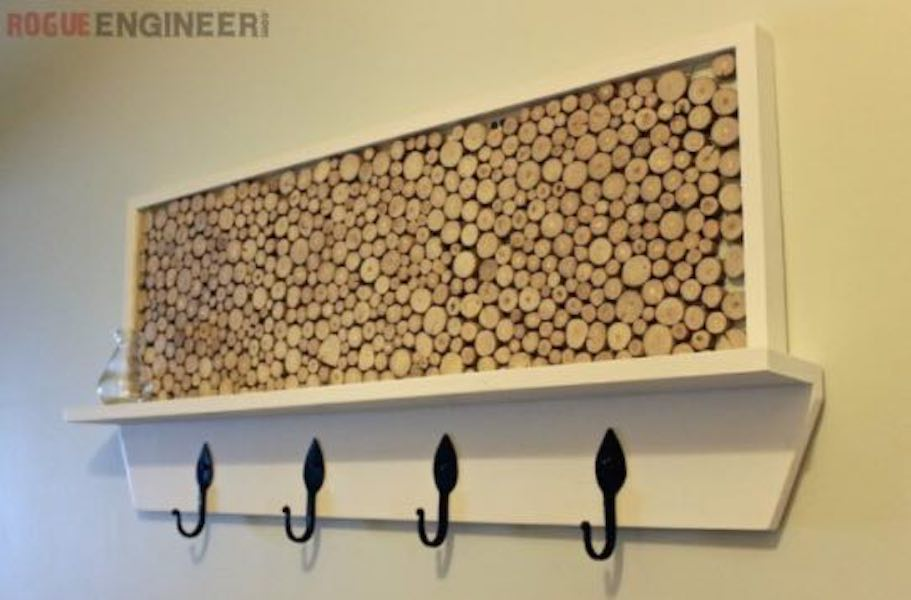 Build a Tree Branch Coat Rack using free plans.