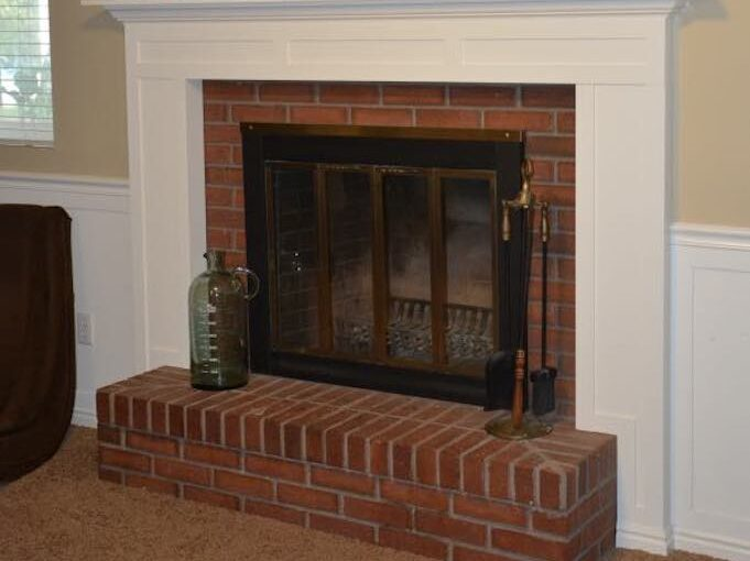 Build a Fireplace Mantel Surround using free plans.