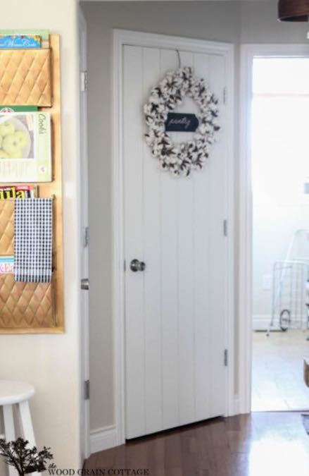 Free plans to build a Wood Planked Door.