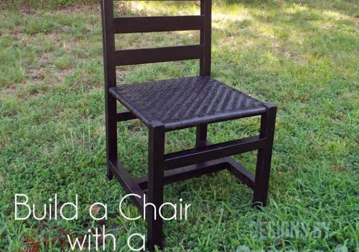 Build a Chair with Woven Seat using free plans.