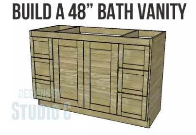 DIY plans to build a Bathroom Vanity.