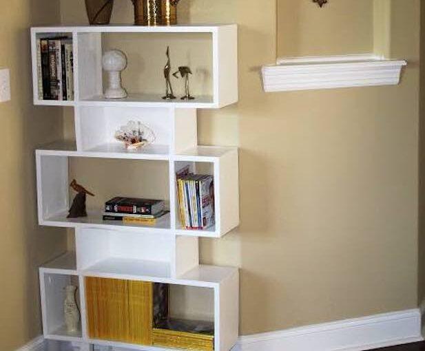 Free plans to build a Modern Bookshelf.