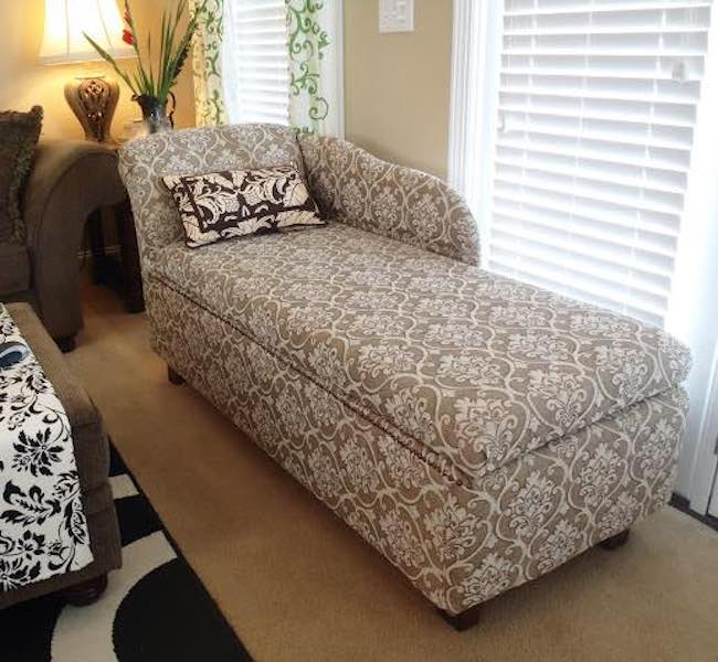 Free plans to build a Chaise Lounge with Storage.