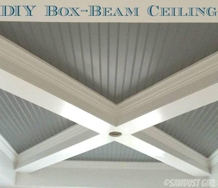 Free plans to diy Box Beam Ceiling.