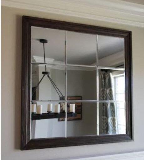 Chic Large Paneled Mirror