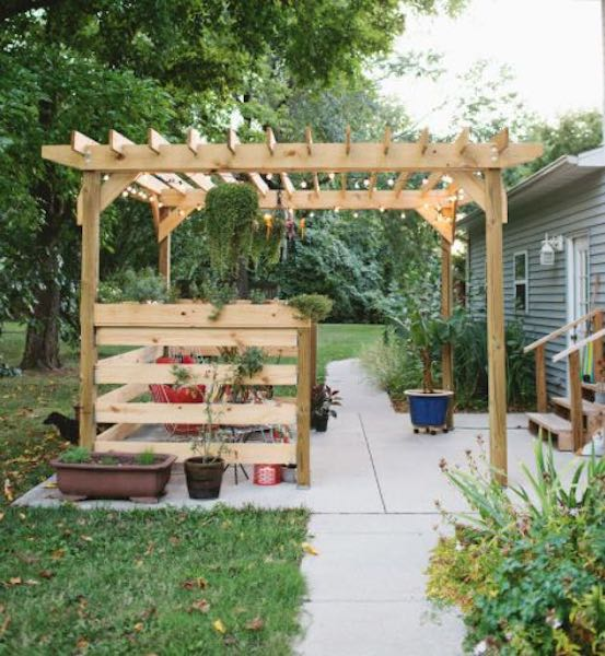 Build A Beautiful Pergola using free plans.
