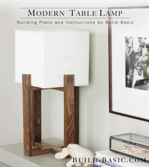 Free plans to build a Modern Table Lamp.