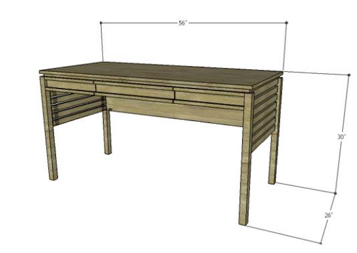 Build a Mesa Desk using free plans.