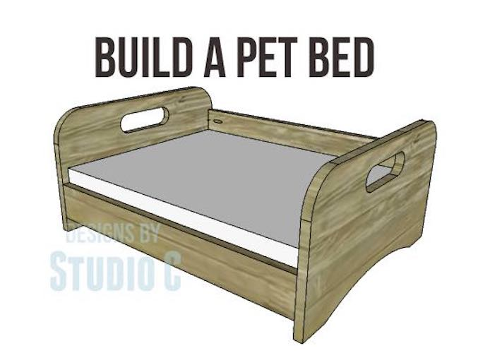 Free plans for an Easy-To-Build Pet Bed.