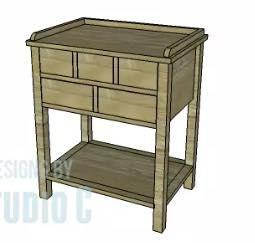 5 Drawer Table