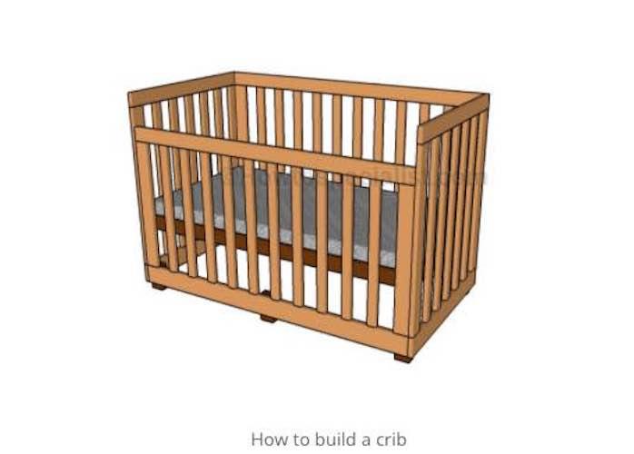 Free plans to build a Nursery Crib.
