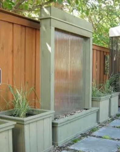 Build a Patio Water Wall using free plans.
