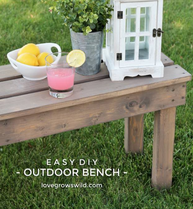 Free plans to build an outdoor Bench.