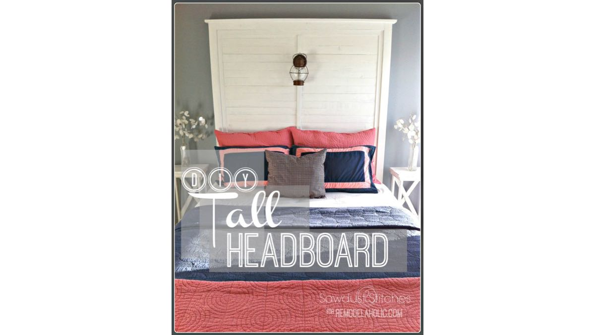 How to build a Tall Headboard with Slats free project.