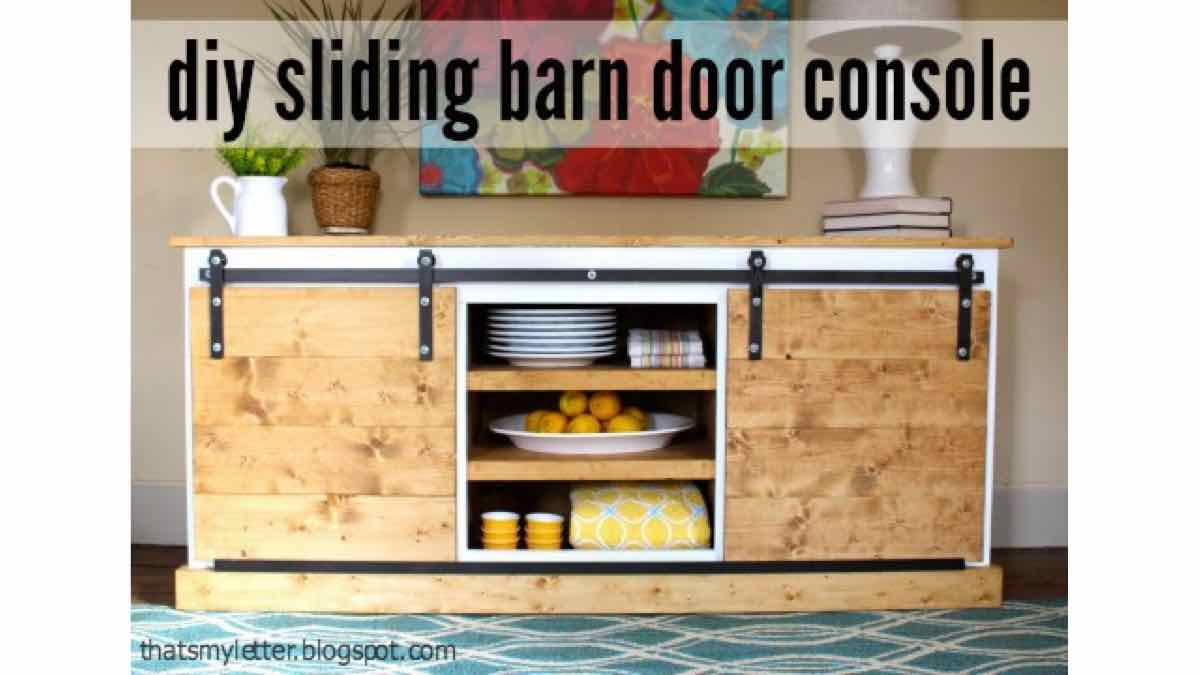 consoles,sideboards,buffets,sliding doors,barn doors,furniture,diy,free woodworking plans,free projects,do it yourself