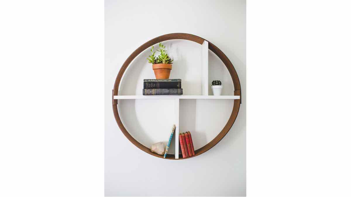 wall mounted shelves,round,wooden,diy,free woodworking plans,free projects,do it yourself