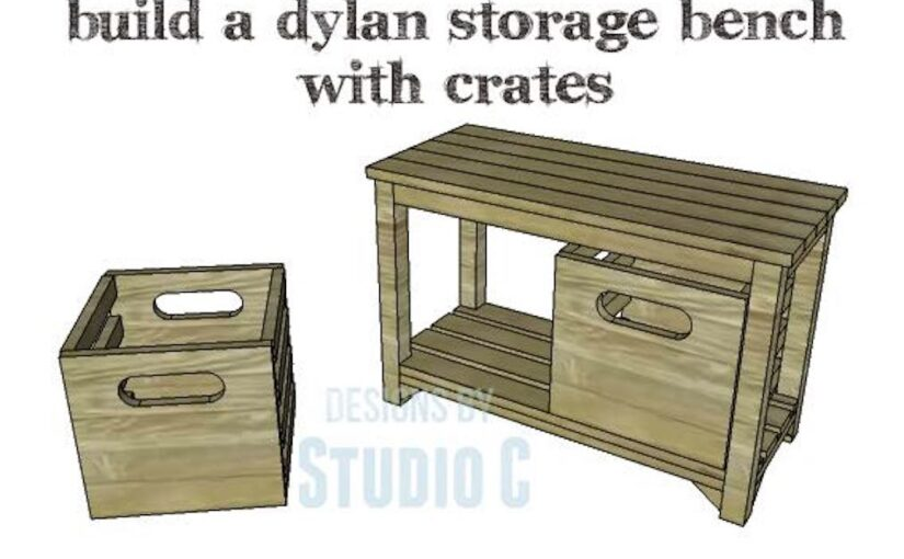 Bench with Storage Crates