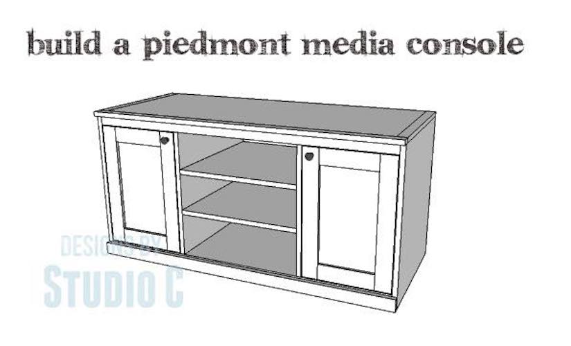 Free plans to build a Piedmont Media Console.