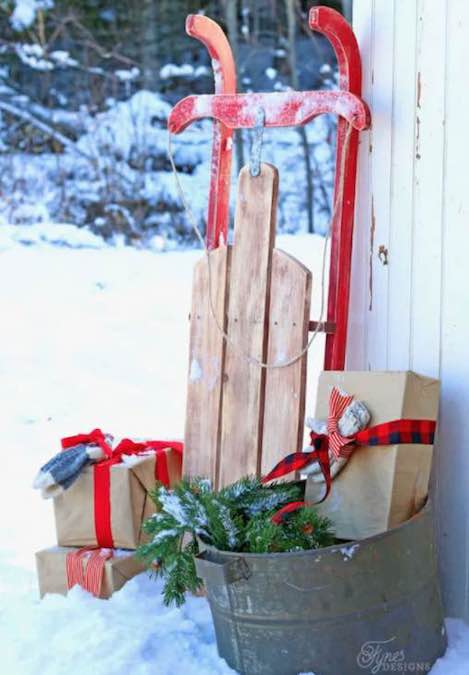 Build a Vintage Wooden Sled using free plans.