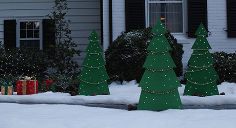 How to build a Christmas Tree Yard Art PDF free project