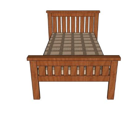 Build a twin size Farmhouse Bed.