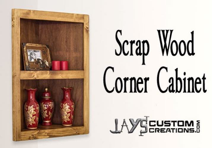 Build a Corner Cabinet using free woodworking plans.