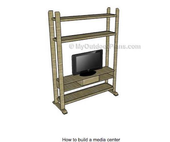 Build a Freestanding Media Center using free plans.