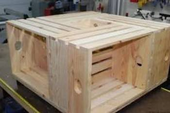 Build a Wood Crate Coffee Table with free plans.