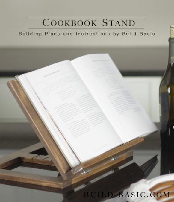 Free plans to build a Folding Cookbook Stand.