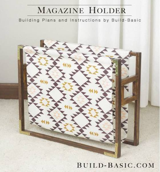Build a Fabric Sided Magazine Holder using free plans.