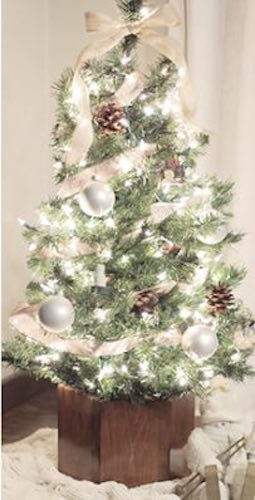 Free plans to build a Geometric Christmas Tree Stand.