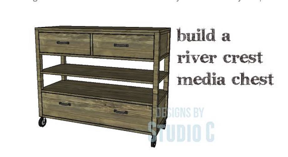 Build a River Crest Media Console using free plans.