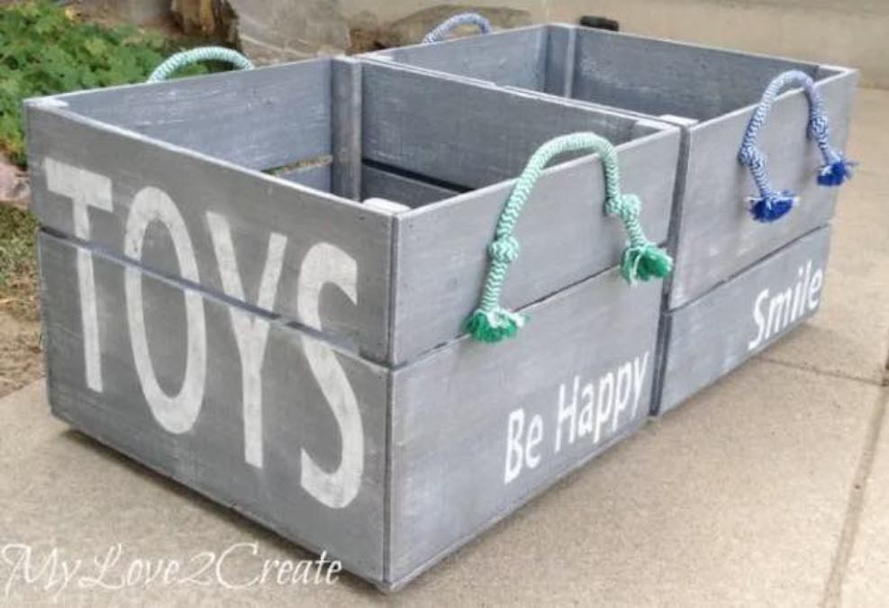 Free plans to build Toy Bins.