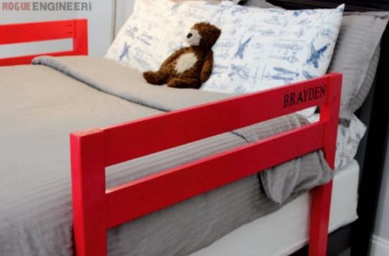 Free plans to build Toddler Bed Rails.