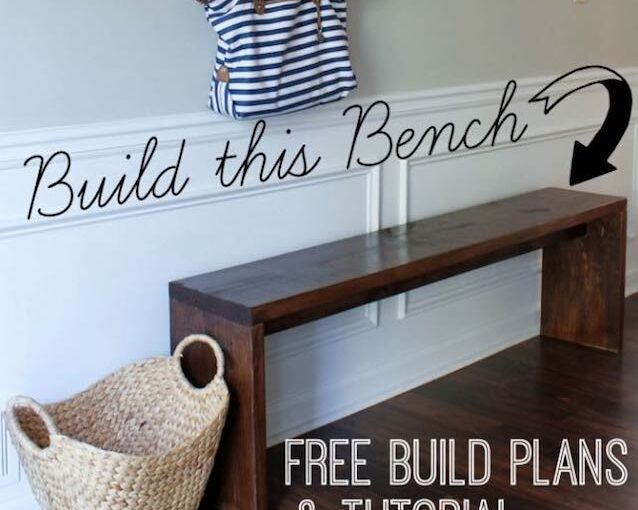 Free building instructions for an Entryway Bench.