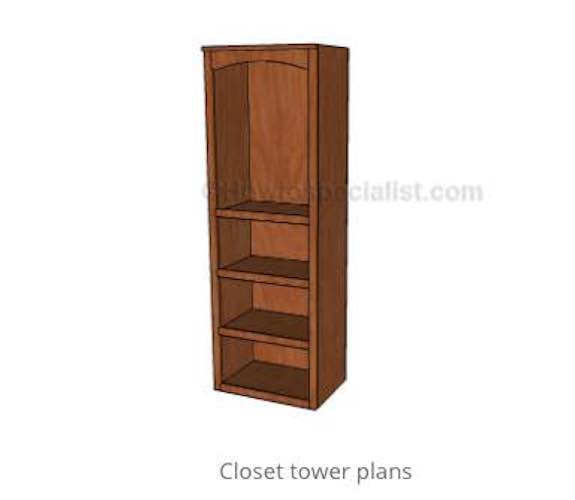 Free plans to build a Closet Tower.